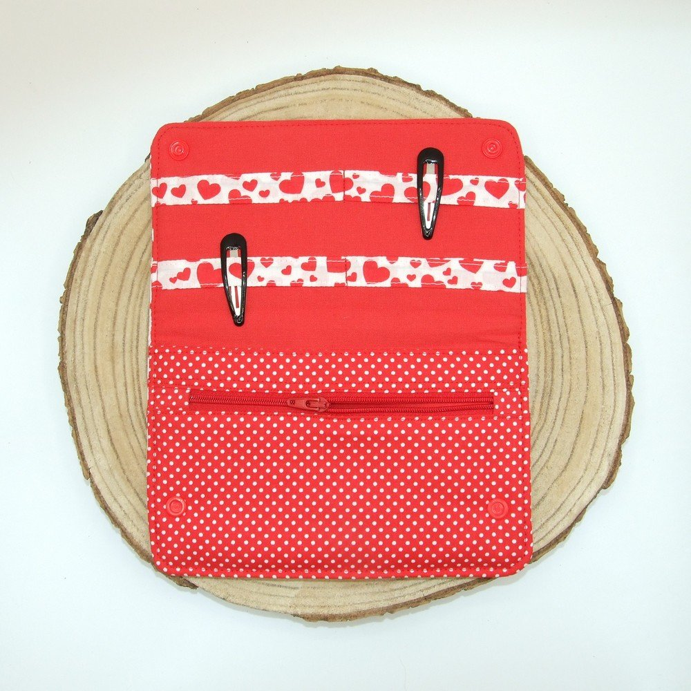 Pochette à barrettes -coeurs---2226194491747