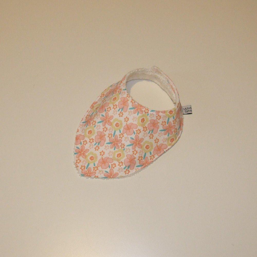 Bavoir bandana imprimé fleurs--9995142139064