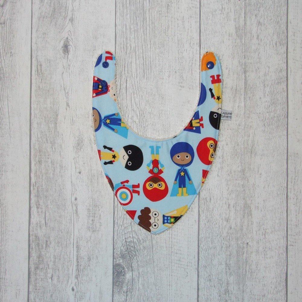 Bavoir bandana imprimé super-héros--9995769228547