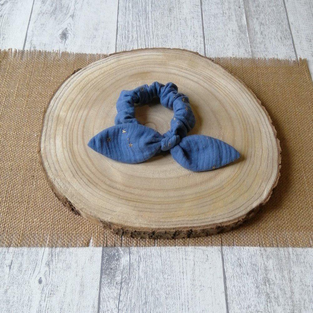 Chouchou noeud -bleu---9995835000008