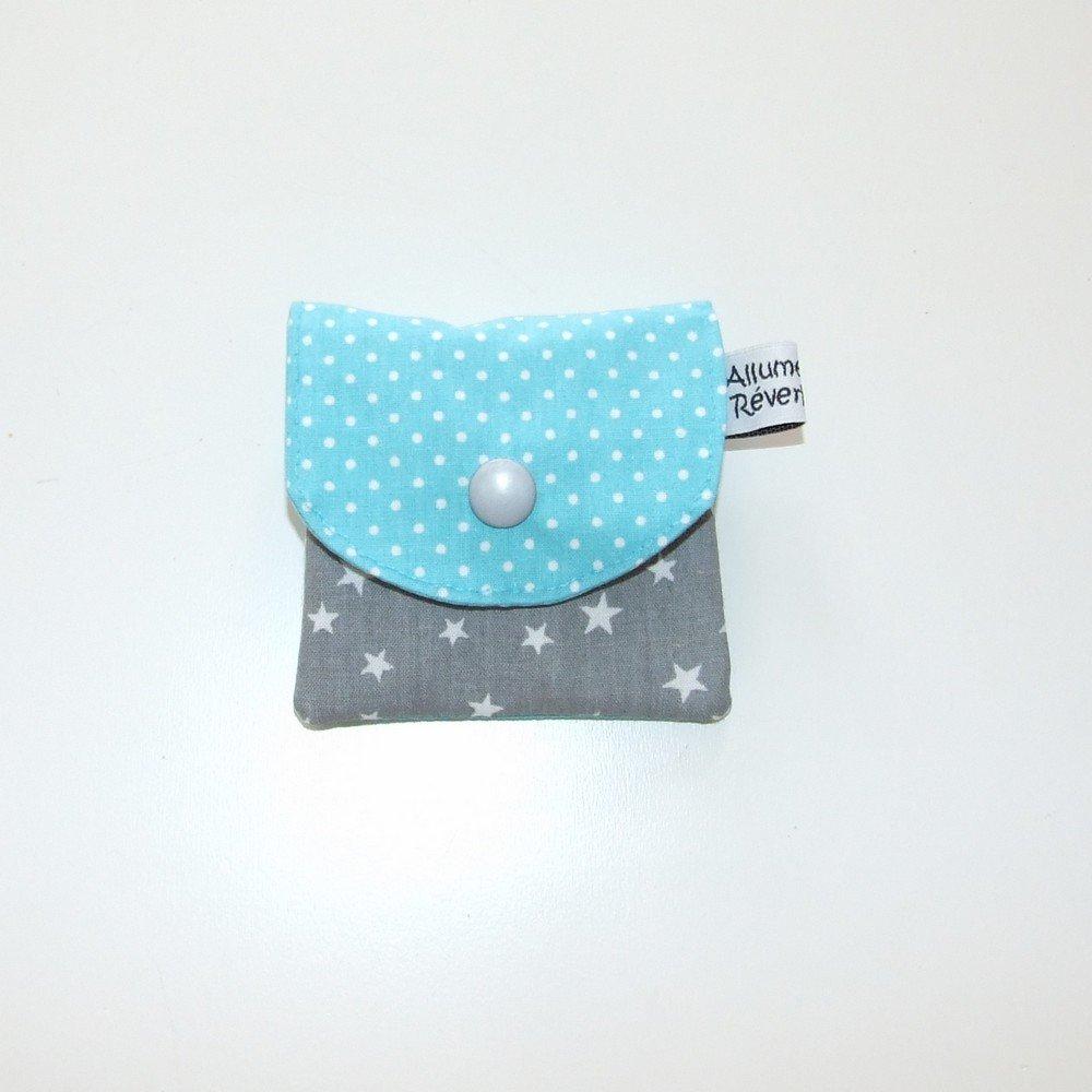 Dent pour la petite souris, imprimé étoiles gris et pois--9995365878887
