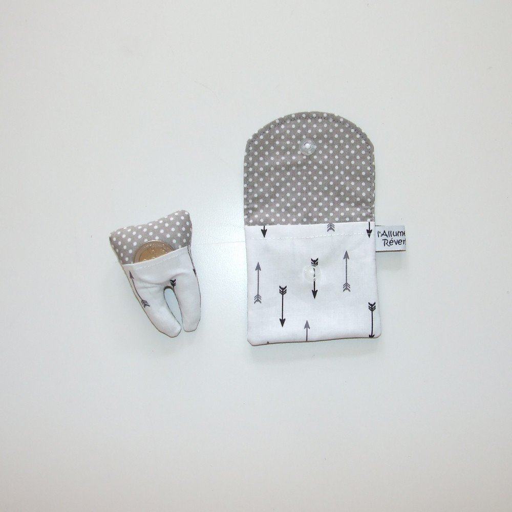 Dent pour la petite souris, imprimé flèches et pois--9995365884550