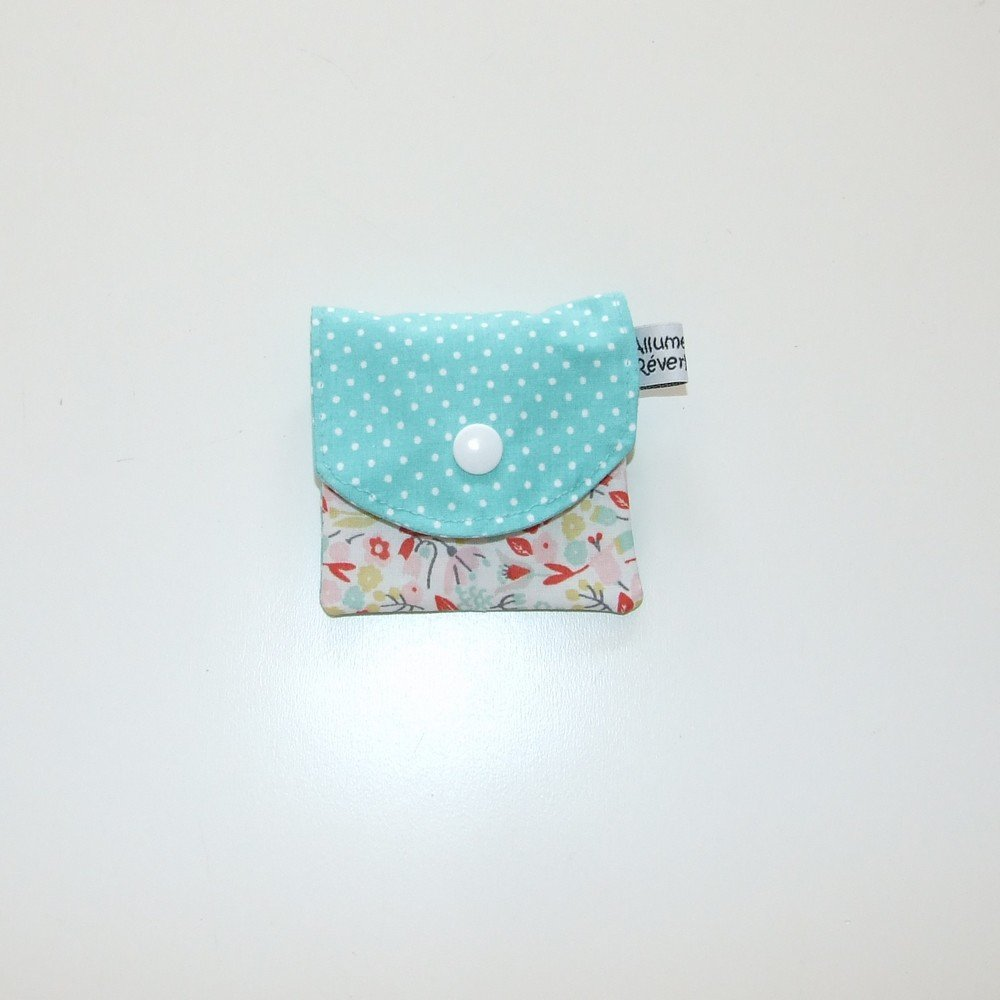 Dent pour la petite souris, imprimé fleurs colorées et pois--9995365836191