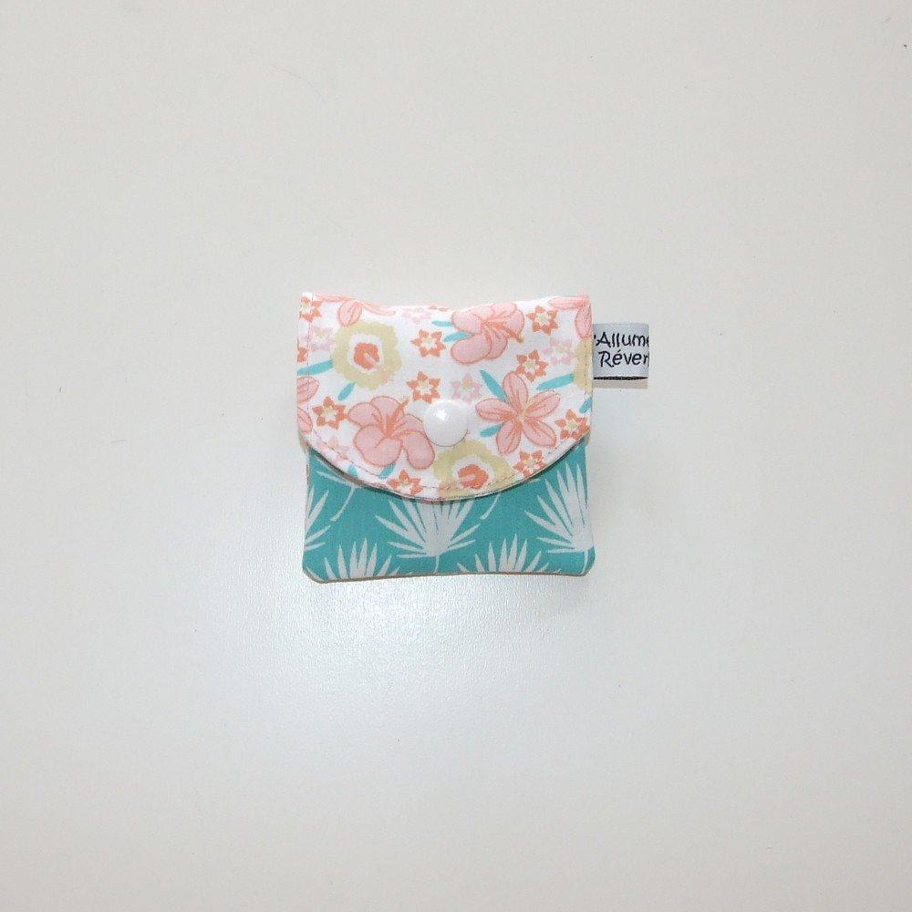 Dent pour la petite souris, imprimé fleurs et feuilles de palmier--9995365846091