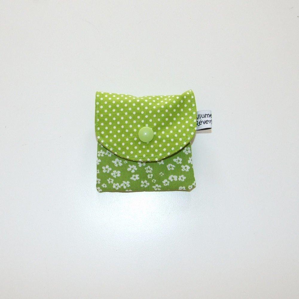 Dent pour la petite souris, imprimé fleurs vertes et pois--9995365834845