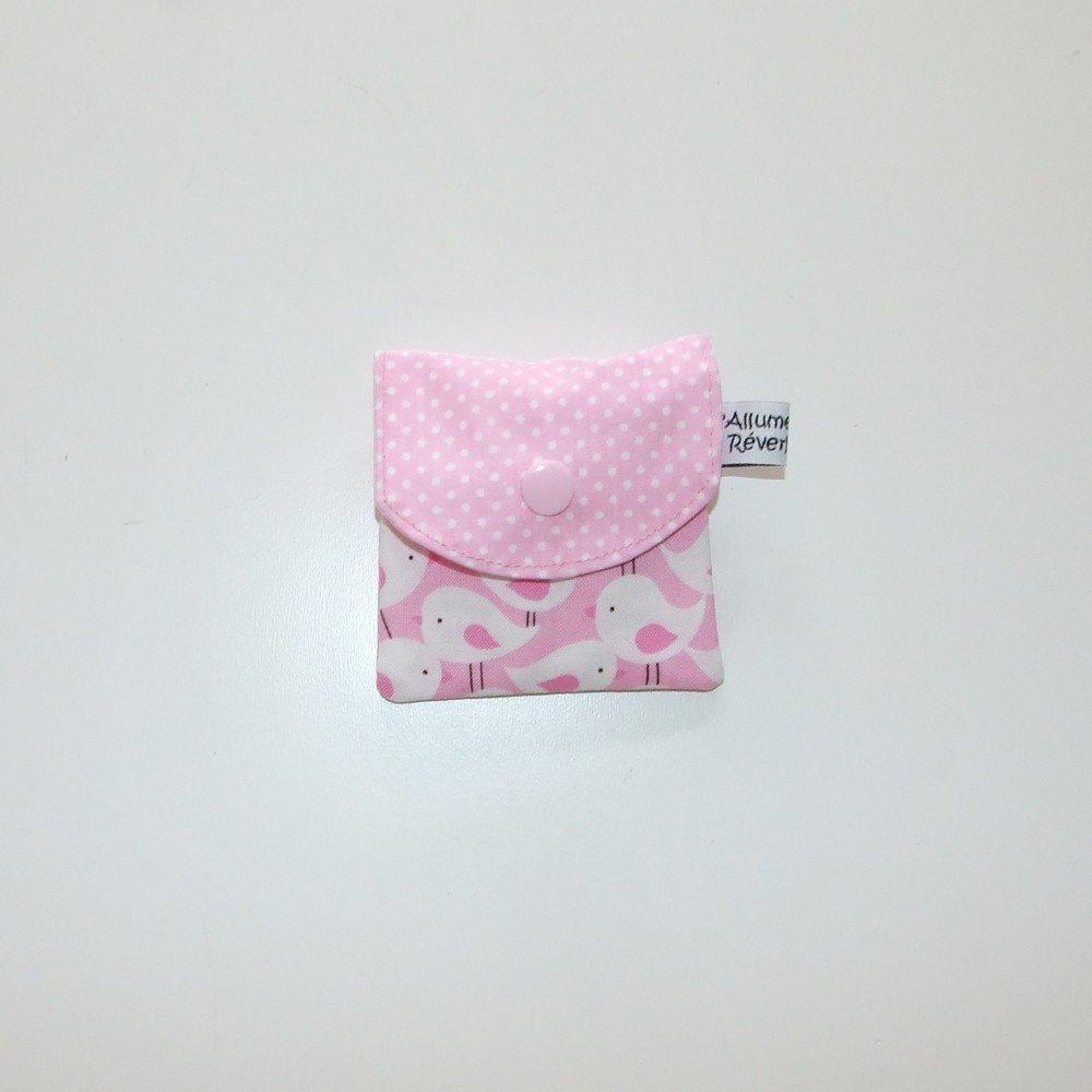 Dent pour la petite souris, imprimé oiseaux et pois--9995365838089
