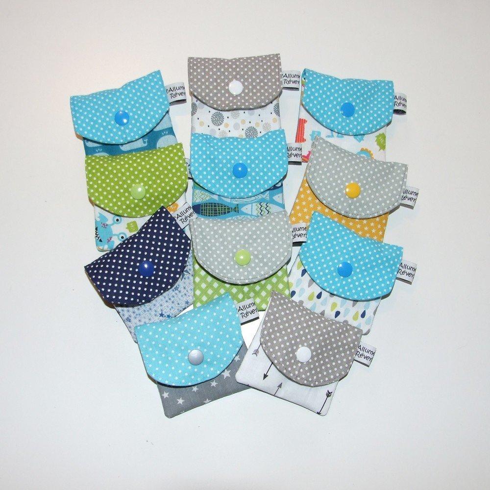 Dent pour la petite souris, imprimé poissons et pois--9995365866143