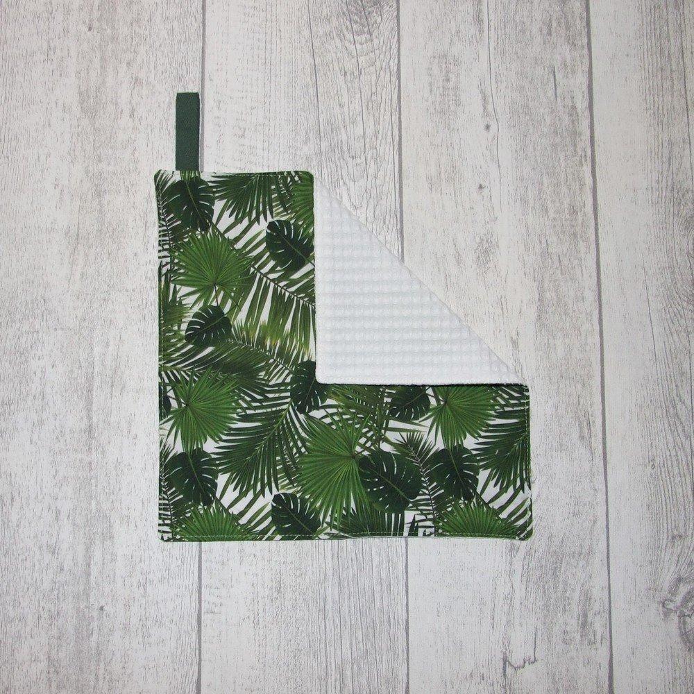 Feuille essuie-tout lavable, nid d'abeille, feuilles vertes--9995765137942