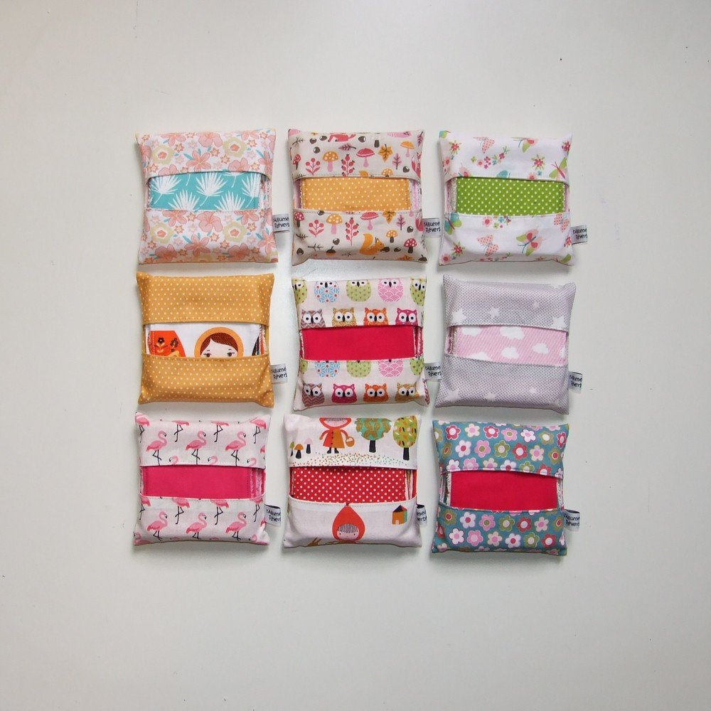 Lingettes lavables par 7 imprimé fleurs et feuilles de palmiers--9995117103663