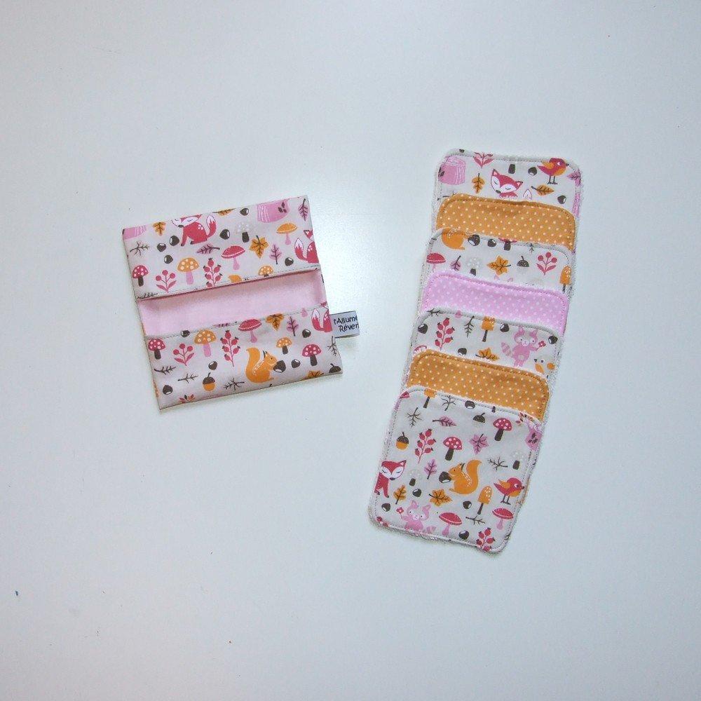 Lingettes lavables par 7 imprimé renard, écureuils, ratons laveurs--9995117100457