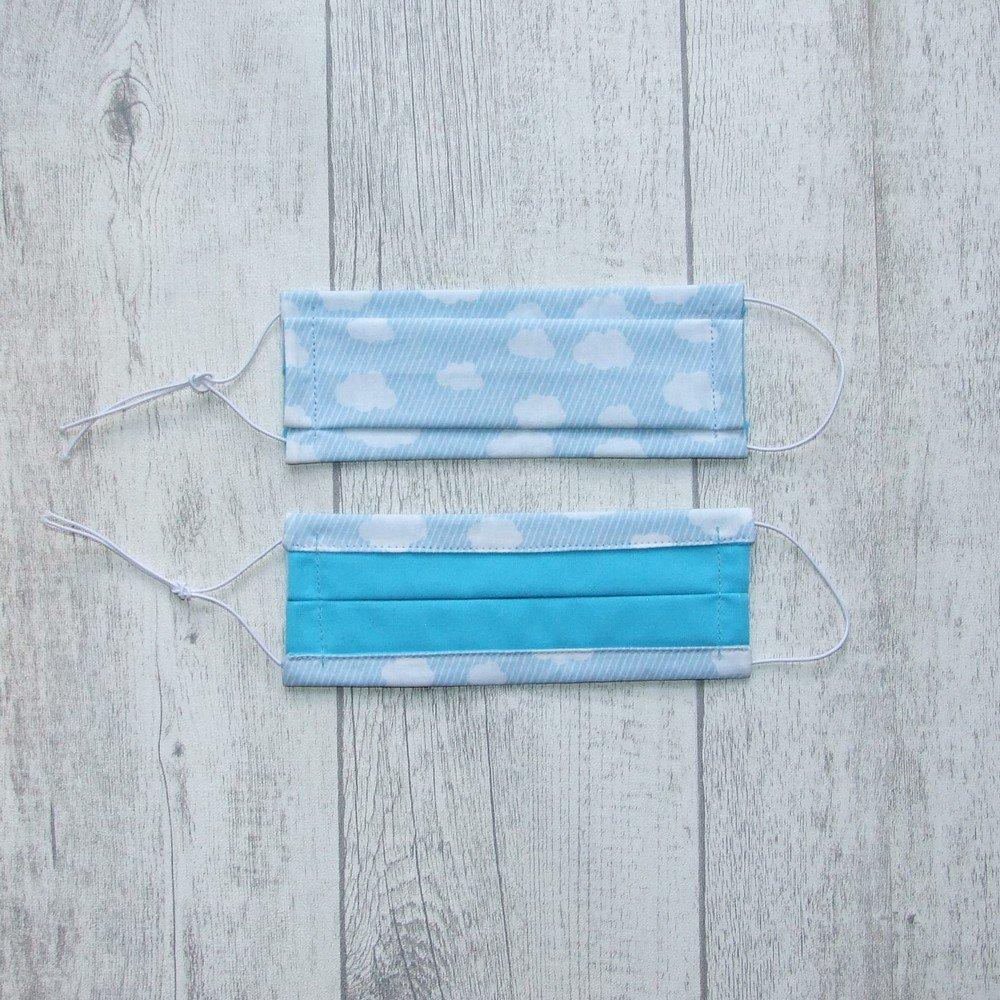 Masque en tissu nuages bleu ENFANT  jusqu'à 8 ans  -AFNOR---9995957805505