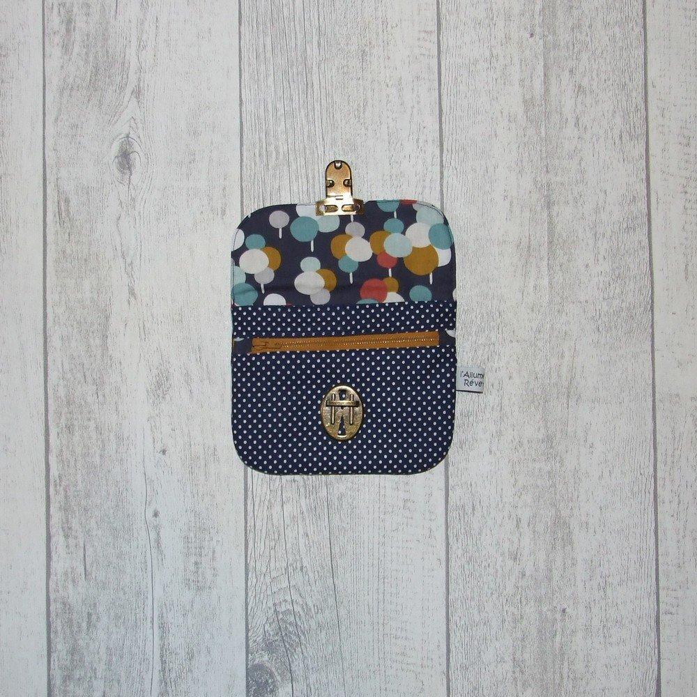 Pochette attache-cartable bulles colorées -bleu---9995768585030
