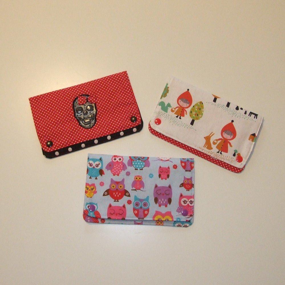 Pochette à barrettes chaperon rouge et pois rouge--9995160180031