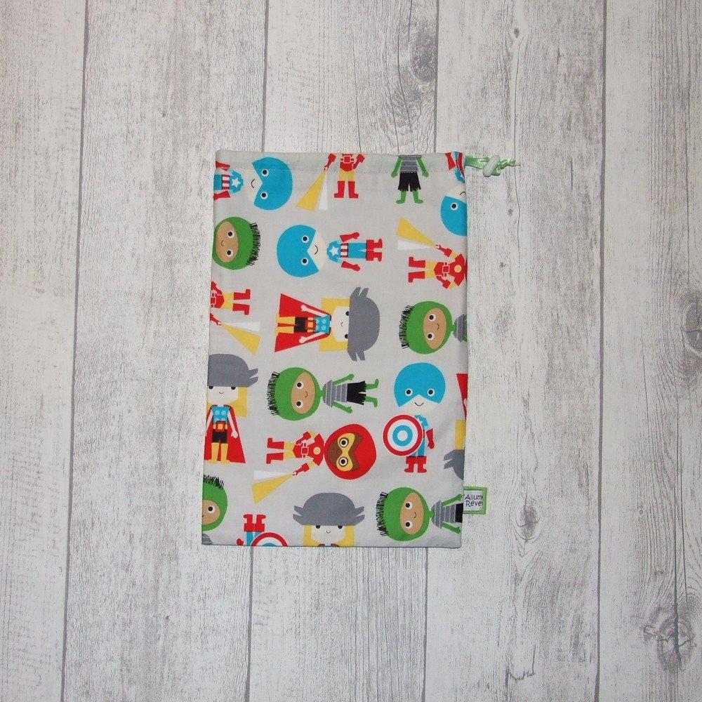 Pochette imperméable, mini sac de piscine Super-Héros verts--9995432557592