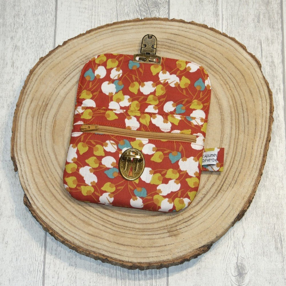 Porte-monnaie imprimé bourgeons de fleurs--9996053605716