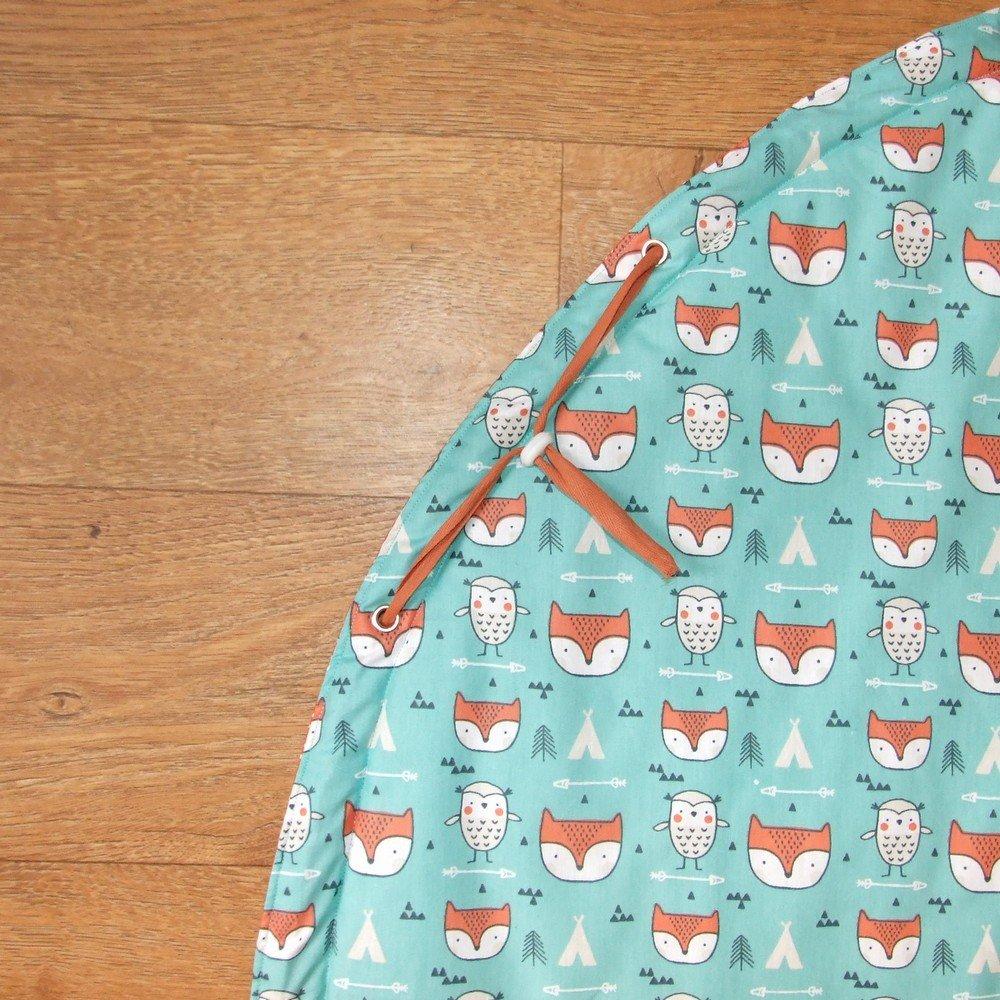 Sac à jouets nomade molletonné renards et pois--9995374437259
