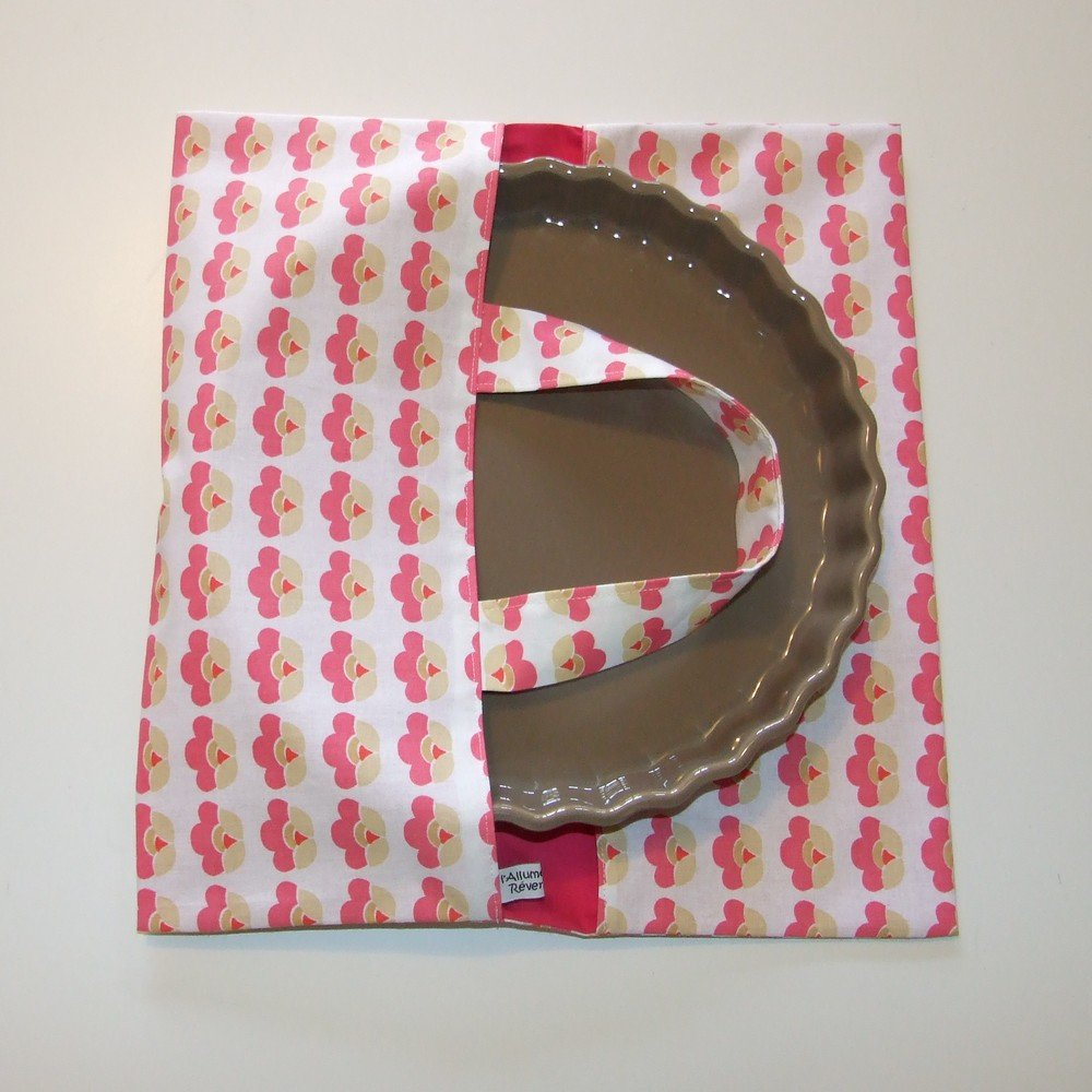 Sac à tarte imprimé fleurs rétro roses--9995266539382