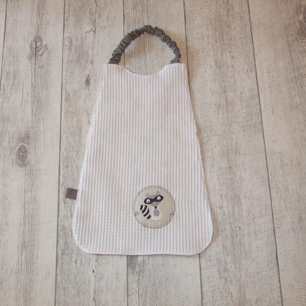 Serviette élastique imprimé animaux de la forêt - gris ---9995654600519