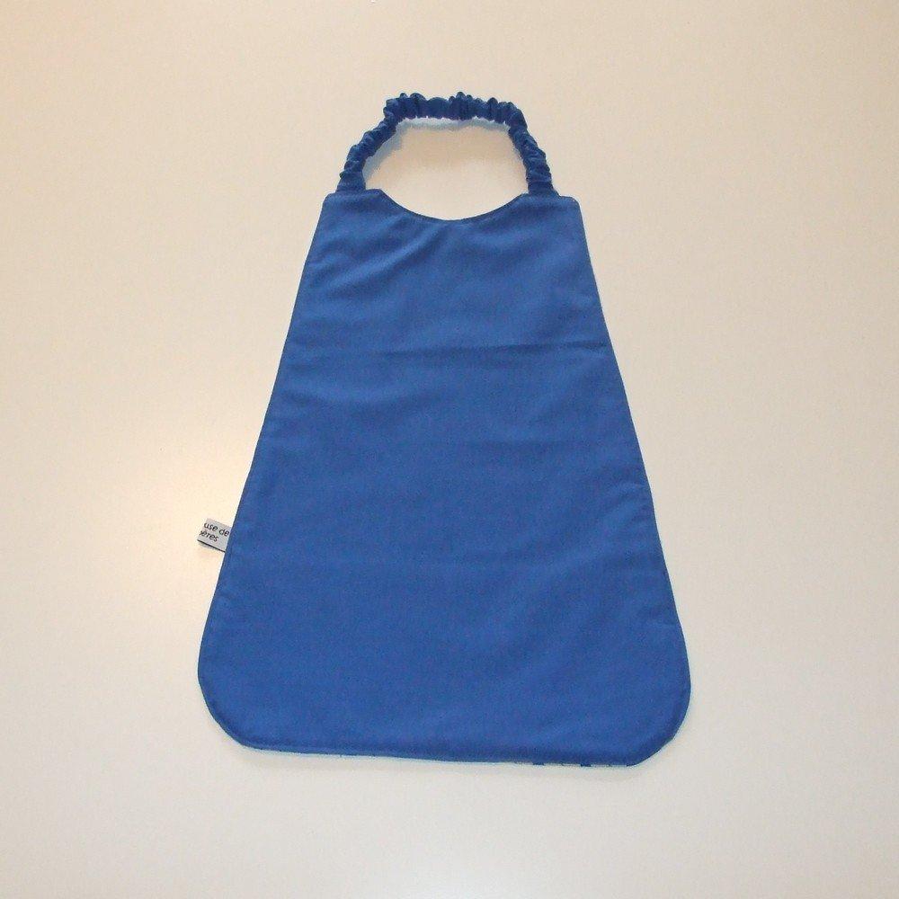 Serviette élastique imprimé éléphants bleu--9995175794810