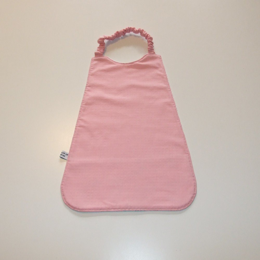 Serviette élastique imprimé origami rose--9995175909498
