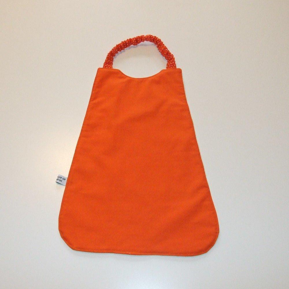 Serviette élastique imprimé éléphants orange--9995175802171
