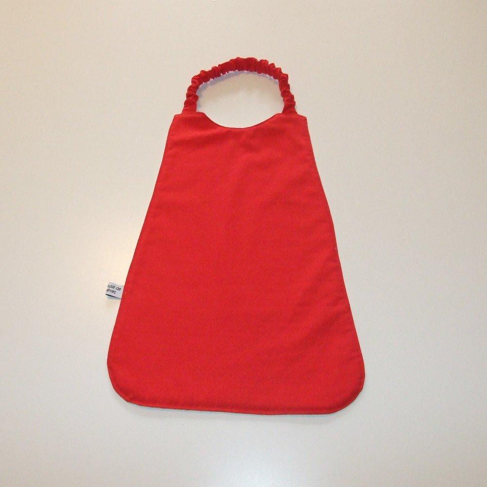 Serviette élastique imprimé éléphants rouge--9995175803338