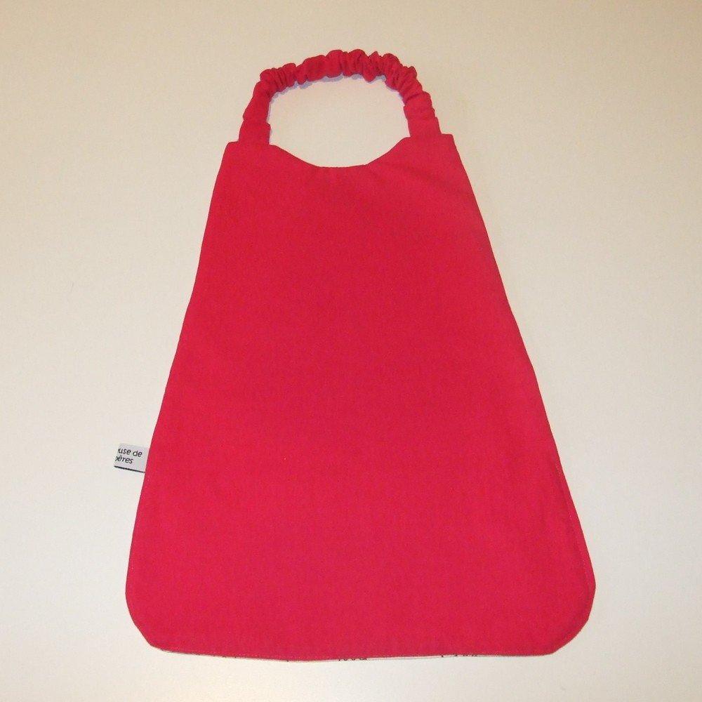 Serviette élastique à colorier thème princesses et coton fuchsia--9995160902961
