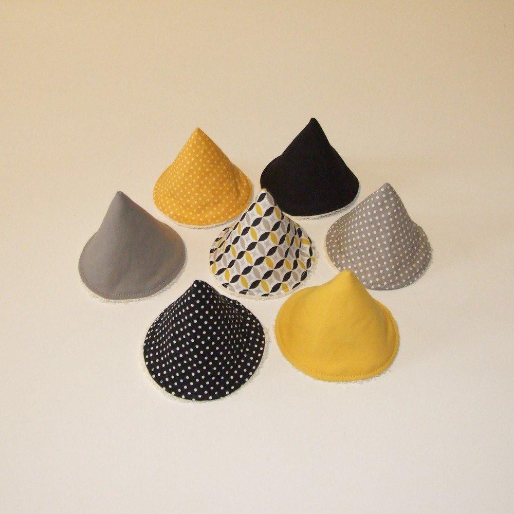 Tipi à pipi en éponge écrue, tissu jaune, gris et noir--9995187750880