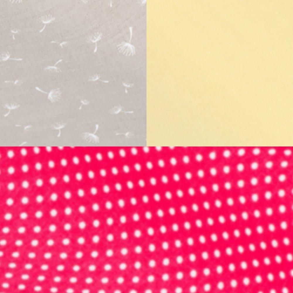 Tipi tissu aigrette de pissenlit et tapis pois framboise--9995796188463