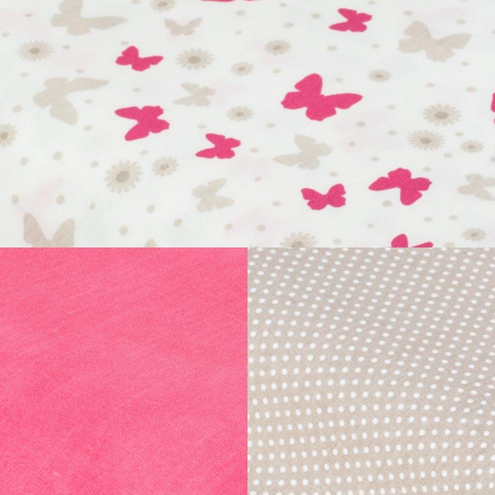 Tipi tissu papillons et tapis pois--9995572381293