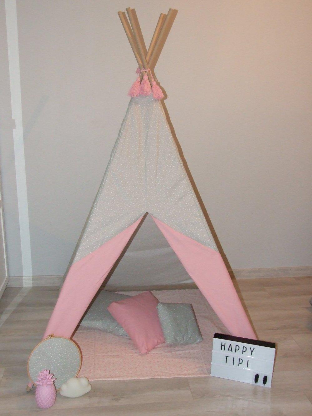 Tipi en tissu pour enfant personnalisable selon vos souhaits--9995806636427