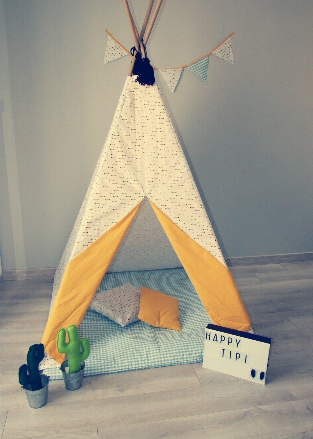 Tipi en tissu pour enfant personnalisable selon vos souhaits--9995162883725