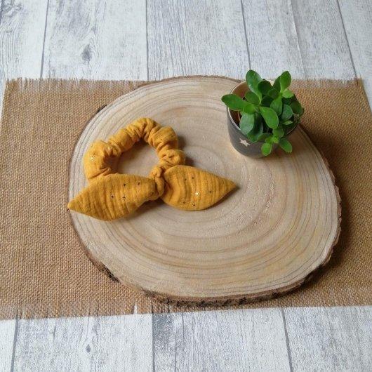 Chouchou noeud -moutarde-