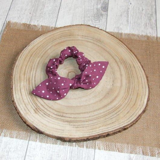 Chouchou noeud -pois prune-