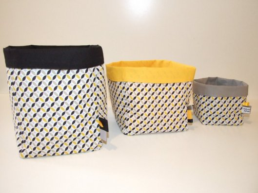 Corbeilles en tissu x3