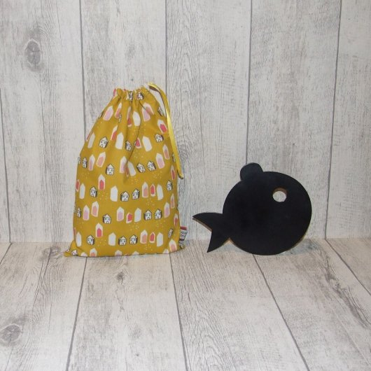 Pochette imperméable, mini sac de piscine petites maisons