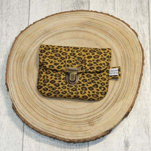 Porte-monnaie imprimé léopard