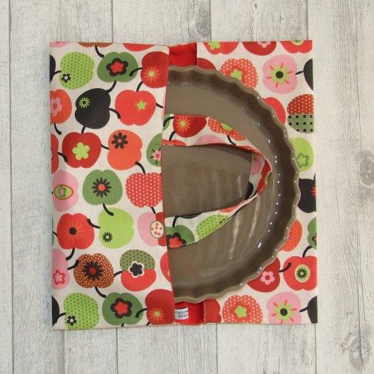 Sac à tarte en tissu coton imprimé pommes