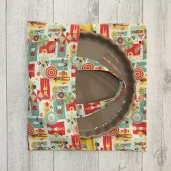 Sac à tarte en tissu coton imprimé plage
